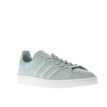adidas light teal campus trainers