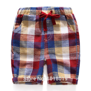 New 2017 High Quality Cotton Linen Baby Boys Clothing Kids Toddler Children Clothes Casual Pants Beach Shorts Summer Boys Shorts