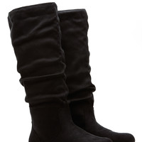 Black Faux Suede Go-To Slouch Boot