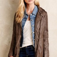 Washed Leather Jacket by Doma Brown