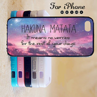 HAKUNA MATATA,King of lion,iPhone 5 case,iPhone 5C Case,iPhone 5S Case, Phone case,iPhone 4 Case, iPhone 4S Case,Case