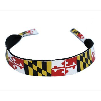 Maryland Flag / Neoprene Sunglass Strap