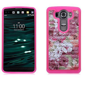 LG V10 Case, Allmet Garden of Dream Bling Rhineston Armor Dazzling Diamond Hybrid Silicone Hard Stars Cell Phone Case Cover for LG V10