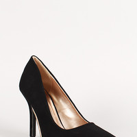 Qupid Nubuck Pointy Toe Pump