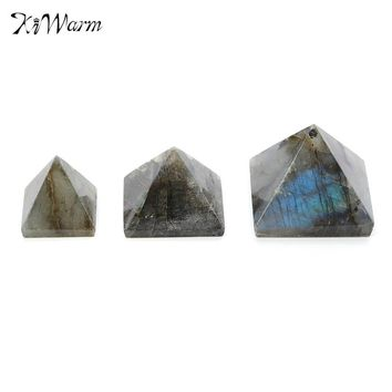 KiWarm Natural Pyramid 15/20/25mm Crystal Gemstone Healing Orgone Feng Shui Charging for Home Decoration Craft Ornaments Gifts