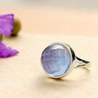 Charoite Ring,Quartz Ring,Geode ring,gemstone ring,Agate ring,Mothers day gift,Mom ring,Mother jewelry,Woman ring