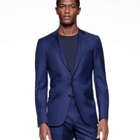 Sutton Suit Jacket in Italian Blue Wool Twill