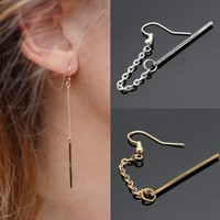 1 Pc Women Tassel Chain Drop Earring