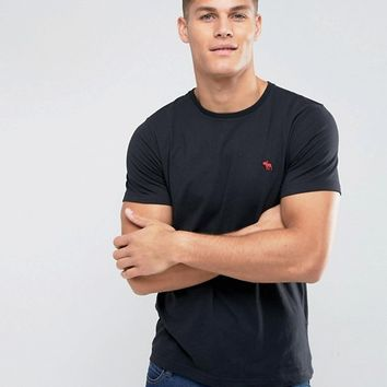 Abercrombie & Fitch T-Shirt Muscle Slim Fit Moose Logo In Black at asos.com