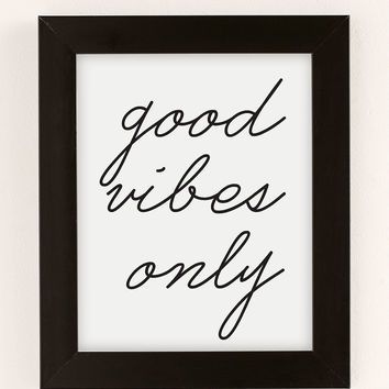 Letters On Love Good Vibes Only Art Print | Urban Outfitters