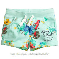 18M~6T, New 2016 Branded Quality Cotton Baby Girls Clothing Kids Toddler Children Clothes Casual Pants Beach Shorts Summer Girls