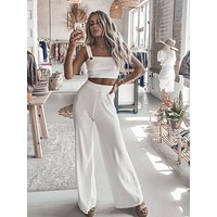 Roof Top White Knit Set