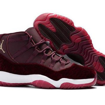 Air Jordan 11 Retro AJ11 Velvet Heiress Wine Red Sneaker Shoes US5.5-13
