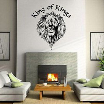 Lion Head King of Kings King of the Jungle Wall Art Sticker Decal 7120