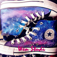 Galaxy Converse Galaxy Custom Design Shoes High Quality Hand Painted Shoes,Converse,Custom Unique Converse Best Birthday Gifts Sale Only One