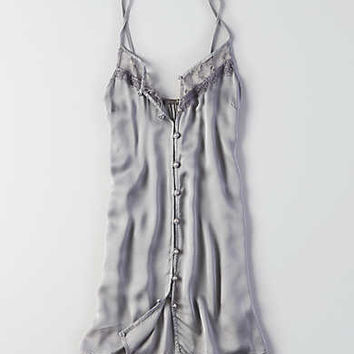 Don't Asky Why Satin Slip Dress, Silver