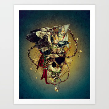 Lost In The Sea Art Print by RIZA PEKER