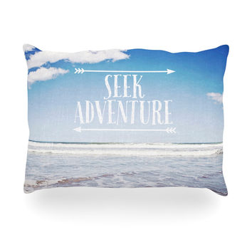 "Susannah Tucker ""Seek Adventure"" Beach Oblong Pillow"