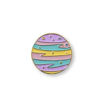 Pre Order: Pastel Planet   Enamel Pin Lapel Pin.