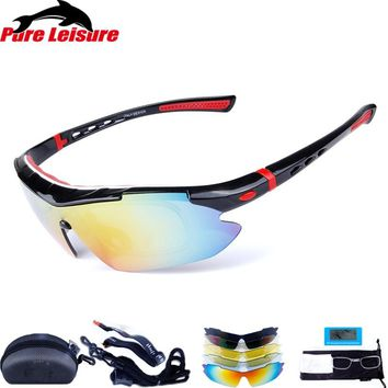 PureLeisure Magnifier Fishing Men's Glasses Eyewear Fishing Polarized Sunglass Clip On Zonnebril Sun Glasses Polarized 5 lens