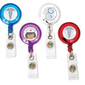 Retailing Nurse  Doctor Medical Healthcare Hospital Caduceus MD Retractable Reel ID Badge Holder  12pcs/lot