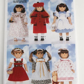 American Girl Doll dress pattern New Butterick six adorable dresses 18 inch doll size
