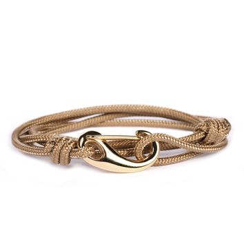 Taupe + Gold Tactical Cord Men's Bracelet