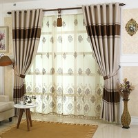 byetee High Quality Luxury Curtains For Living Room Stripes Window Kitchen Curtains For Bedroom Drapes Blackout Curtain Cortinas