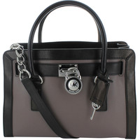 Michael Kors Hamilton Two-Tone Women's Leather Satchel Handbag