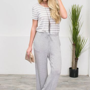 Jojo Striped Grey Jumpsuit