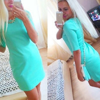 Fall 2015 new hot pencil dress fifth sleeve dress Slim thin female = 1753492420