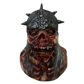 Super Scary Skull Dead Warrior Halloween Latex Mask Full Face Adult Breathable Masquerade Cosplay Costume Mask