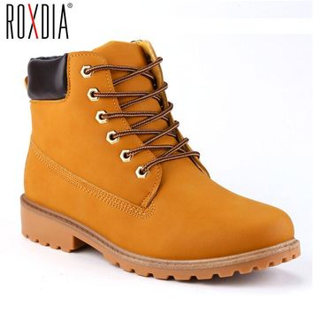 Mens Faux Suede Leather Ankle Boot Snow Work Shoes