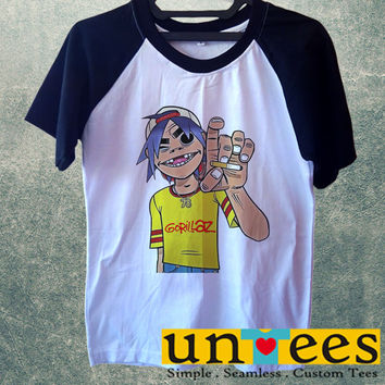 Gorillaz Short Raglan Sleeves T-shirt