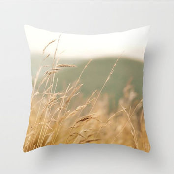 Rustic Decor, Mountain Throw Pillow, Fall Autumn Decor, Country Home, Farmhouse Syle, Gold. Living Room