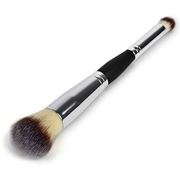 Cosmetic Double Ended Eyeshadow Blending Contour Foundation Blush Makeup Brush
