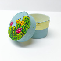 Jewelry Box, Small Trinket Box, Hand Painted, Cactus Painting, Cactus Box, Cacti Decor, Jewelry Holder, Jewelry Organization, Gift Box