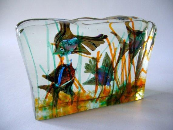 1950s cenedese murano art glass aquarium from mascara. Black Bedroom Furniture Sets. Home Design Ideas