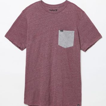 Hurley Oscar Drop Pocket T-Shirt - Mens Tee - Maroon