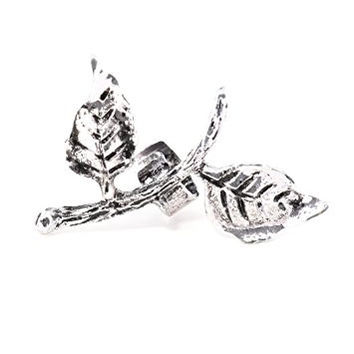 Leaves Ear Cuff Metal Wrap Silver Tone Nature Leaf Earring CD45 Fashion Jewelry