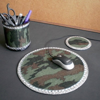 CAMOFLAUGE & BLING Computer Desk Set