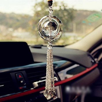Car Rear View Mirror Hanging Ornament Mirror Pendant Decoration