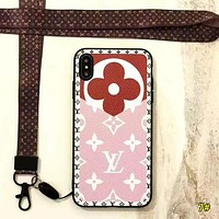 Louis Vuitton LV New Fashion Monogram Print Leather Women Men Protective Cover Phone Case 7#