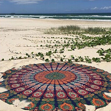 Hippie Round Mandala Tapestry Indian Wall Hanging Beach Throw Towel Yoga Mat