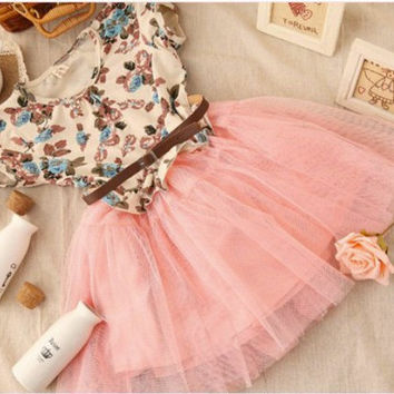 Rustic Flower Girl Tutu Dress