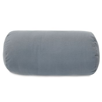 Gray Solid Round Bolster Pillow