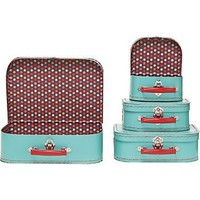 Small Pool Multi Dots Suitcases