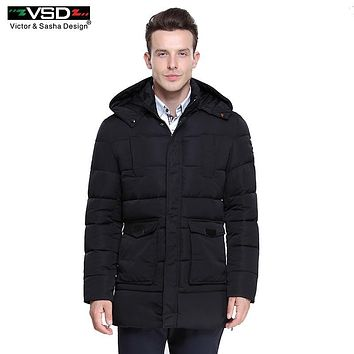 Victor&Sasha Design 2016 Hot Sale High Quality Brand Clothing Winter Cotton Coat Men's Jackets Winter Thick Jacket Parkas VS5877