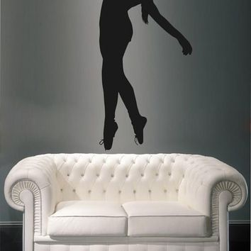 ik2301 Wall Decal Sticker Ballerina girl dance pose beautiful living room bedroom