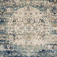 Anastasia Blue / Ivory 2Ft 7In X 8Ft 0In Rug